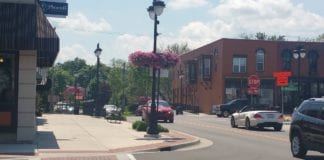 Fenton Michigan Downtown Streetscape
