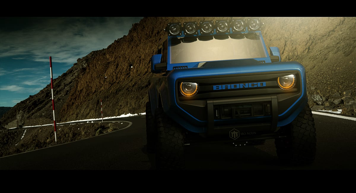 2020 Ford Bronco Rendering / Photo Courtesy of Mo Aoun