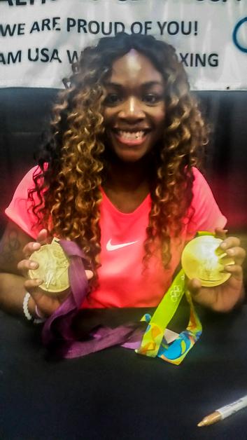 Claressa Shields Flint Gold Medalist