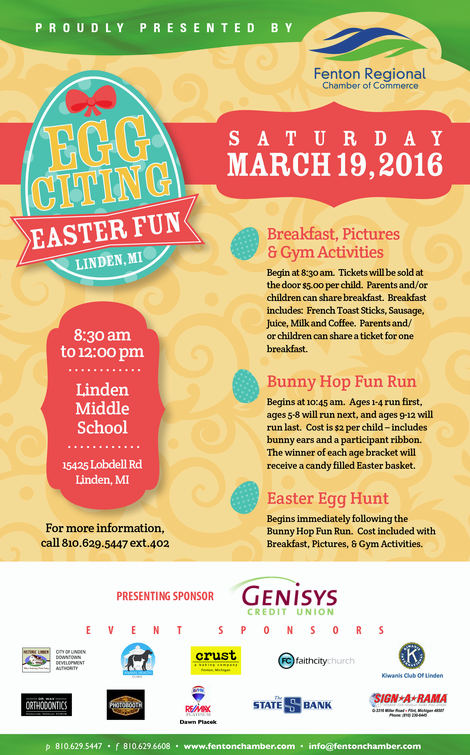 Fenton Chamber Eggciting Easter Event
